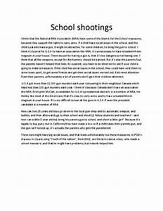 Comparison Contrast Essay Example Paper School Shootings Essay Examples My Mother Essay In English also Essay On Photosynthesis School Shootings Essay High School Essay Format Parkland School  Research Paper Essay Example