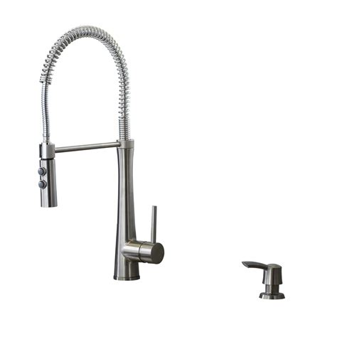 pre rinse kitchen faucets shop giagni fresco stainless steel 1 handle deck mount pre