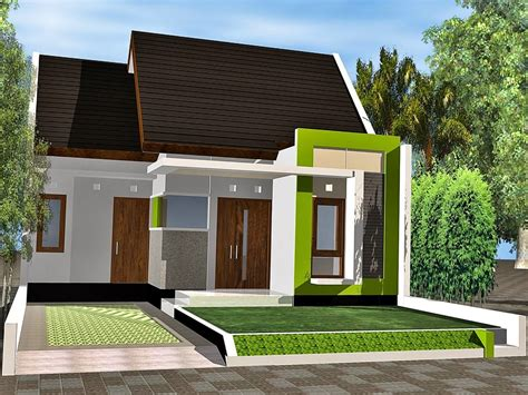 desain rumah pojok minimalis  lantai
