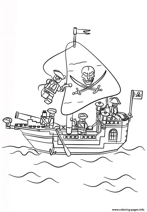lego pirate ship coloring pages printable