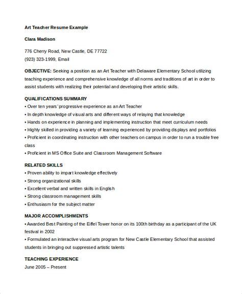 teacher resume   sample  format