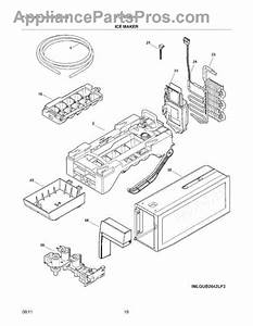 Parts For Frigidaire Fghb2844lf6  Ice Maker Parts