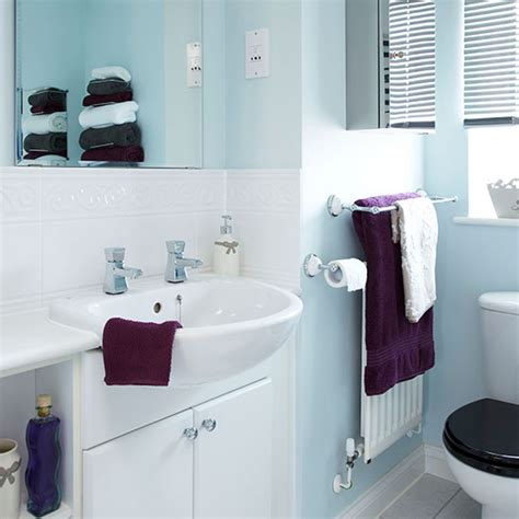 pale blue  white bathroom decorating ideal home