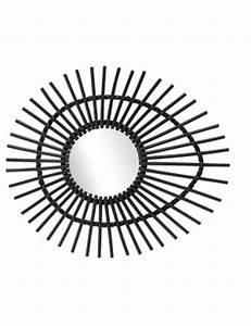 Miroir Rotin Noir : chambre en rotin vintage naturel kok maison ~ Melissatoandfro.com Idées de Décoration