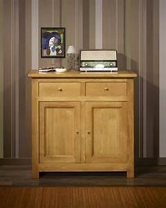 Meuble En Chene Massif : petit buffet 2 portes 2 tiroirs en ch ne massif de style ~ Dailycaller-alerts.com Idées de Décoration
