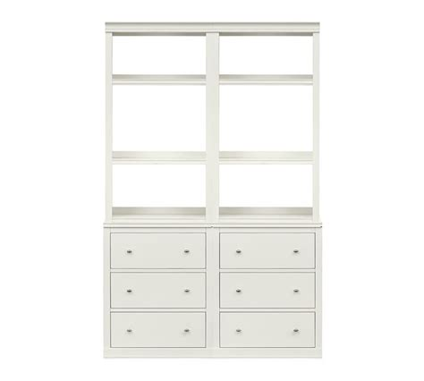white bookcase with drawers impressive logan bookcase with drawers pottery barn on