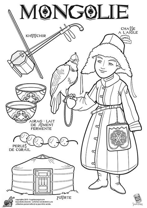 cuisine mongole coloriage découverte du monde la mongolie