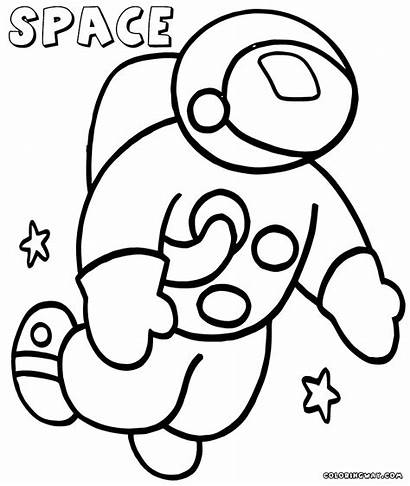Space Coloring Printable Astronaut Pdf Colorings
