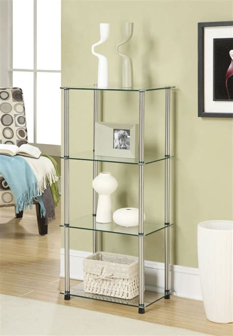 Etageres Bathroom by Modern 4 Shelf Etagere Display Side Stand Bathroom Storage