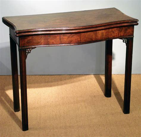 antique mahogany serpentine card table antique bridge