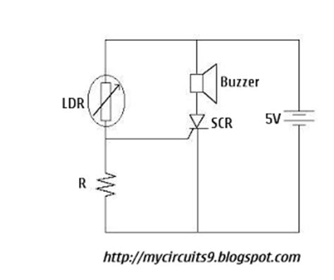 Over Light Sensor Alarm Circuit Mycircuits