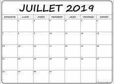 juillet 2019 calendrier imprimable calendrier gratuit