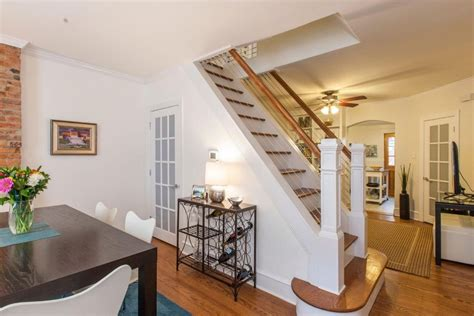 north philly townhouse   puts staircase
