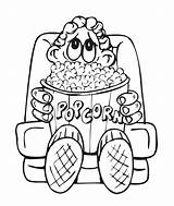 Popcorn Coloring Pages Sheet Box Clipart Printable Drawing Colouring Template Clip Boy Library Az Kernel Snacks Bag Fun Snack Getcolorings sketch template