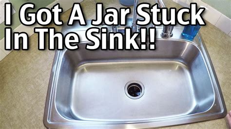 Stuck In Sink by I Got A Jar Stuck In The Sink Garbage Disposal