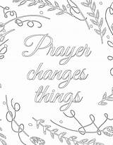 Prayer Things Changes Coloring Pages Printable Pantry Template Sketch Sunday Templates Printables sketch template