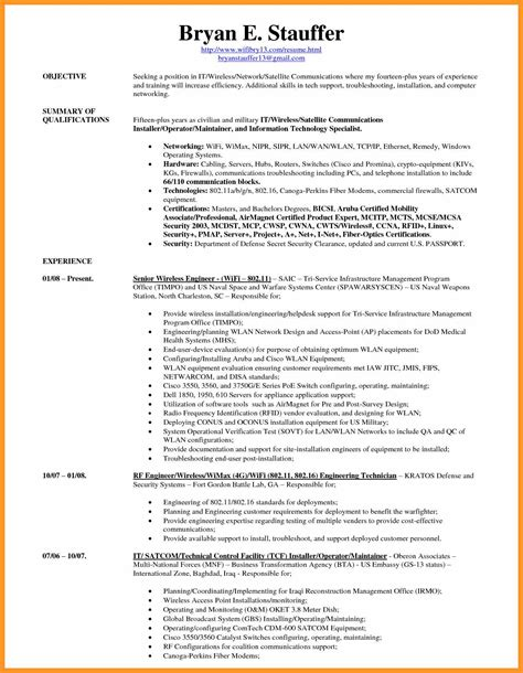 What Are Some Computer Skills To List On A Resume by Resume Computer Skills List Exle Bio Letter Format