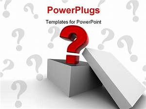 Very beautiful three dimensional illustration figure for Question and answer powerpoint template