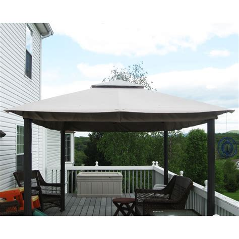 namco patio furniture covers namco 14 x 10 two tiered gazebo 5lgz3157 nam garden winds