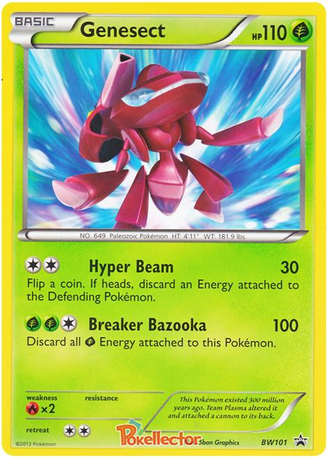 siege hello genesect black white promos 101 card
