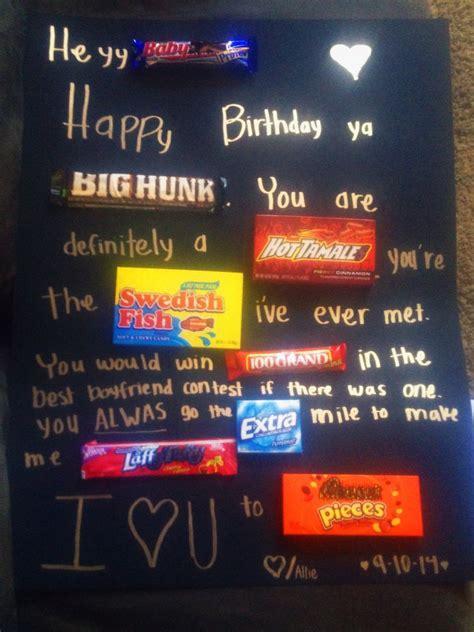 poster candy boyfriend birthday candy poster boyfriend