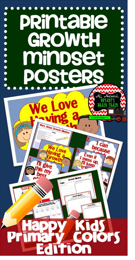 Owl theme polka dot color posters these cute posters are a great way to display colors and color words free chevron color and shape posters! Happy Kids Growth Mindset Posters (Primary Colors) (With images) | Growth mindset posters ...