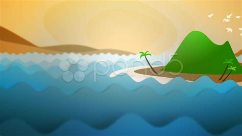 ocean waves cartoon