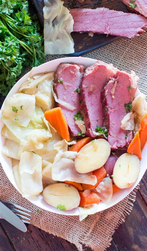 Patricks' day favorite in under two hours. Instant Pot Corned Beef and Cabbage VIDEO - Sweet and Savory Meals
