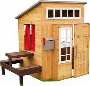 Cabane Pour Enfants Avec Table Repas En Bois