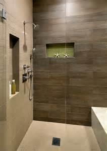 groutless kitchen backsplash wood plank tile bathroom with built in shower bench