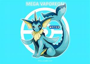 Mega Vaporeon! by villi-c on DeviantArt