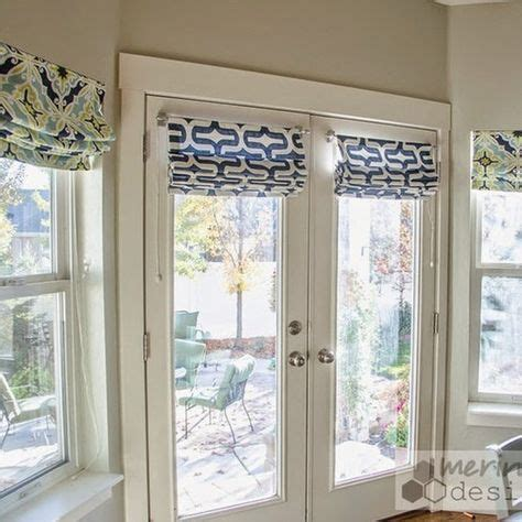 diy roman shades  french doors  instructions