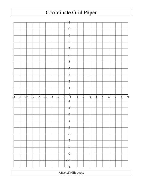 coordinate grid math paper graph drawing worksheet grids maths shapes integers worksheets planes drills shape