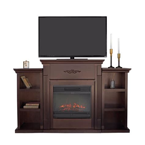 White Electric Fireplace With Bookcase by Home Espresso White W Electric Fireplace