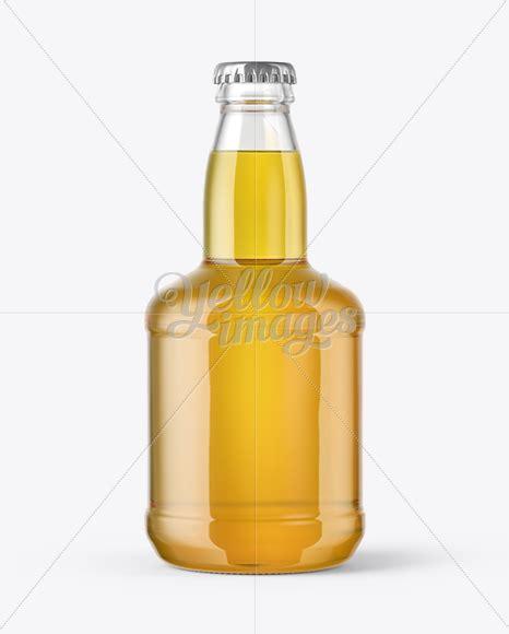 Clear glass lager beer bottle mockup 500ml. 330ml Clear Glass Lager Beer Bottle with Foil Mockup in ...