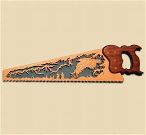 All Bird Project Plans & Patterns - Eagle Scene Scroll Saw