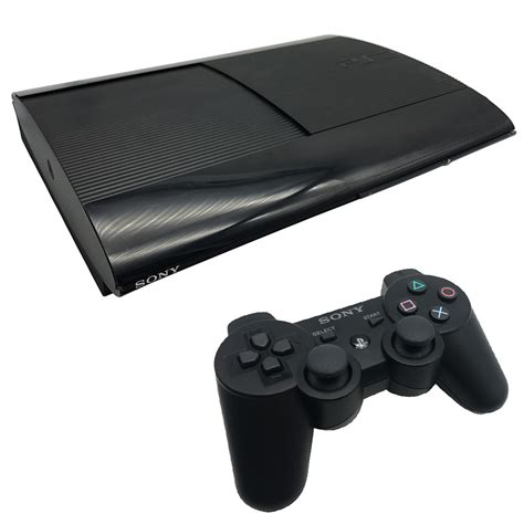 console ps3 playstation 3 new look 12gb black console pre owned
