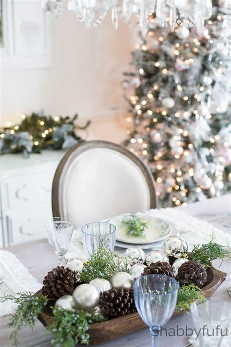 french country farmhouse christmas style  blue