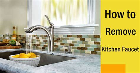 how to disconnect kitchen faucet how to remove a kitchen faucet by process