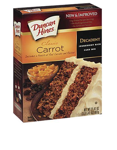decadent carrot cake mix duncan hines