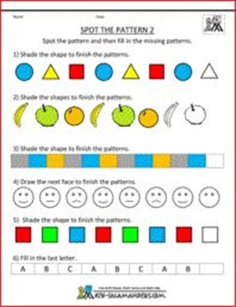 kindergarten patterns images math patterns