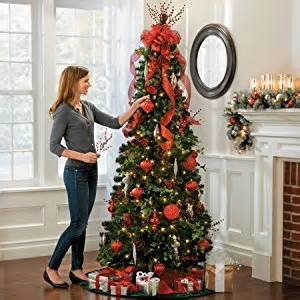 pre lit noble pine pull up christmas tree 6 1 2 collapsible pop up christmas tree lighted 400