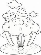 Cupcake Coloring Netart sketch template