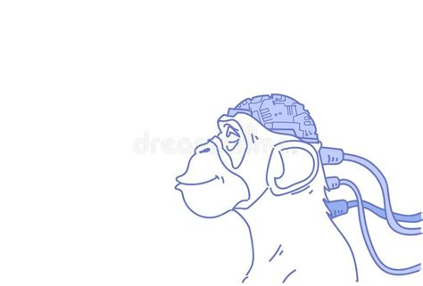 Monkey sketch stock vector. Illustration of hand, graphics ...