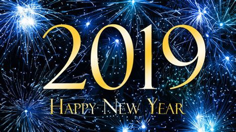 Happy New Year 2019 Blue Hd Wallpaper For Laptop And