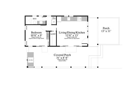 ranch homes floor plans contemporary style house plan 1 beds 1 00 baths 399 sq