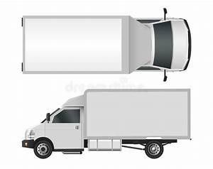 White Truck Template  Cargo Van Vector Illustration Eps 10