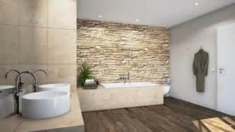 bilder für badezimmer steinmauer als highlight für das rustikale feeling im badezimmer roomido
