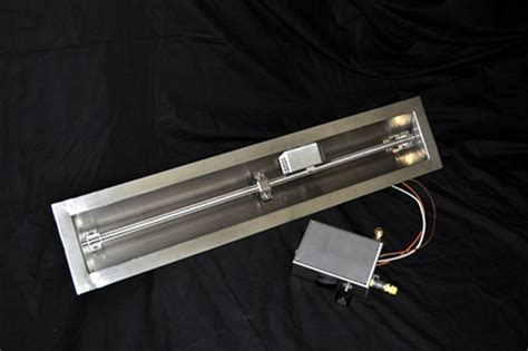 gas pit burner kit hearth products controls 24 inch stainless steel linear