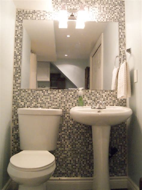 small  bathroom ideas orange design  narrow